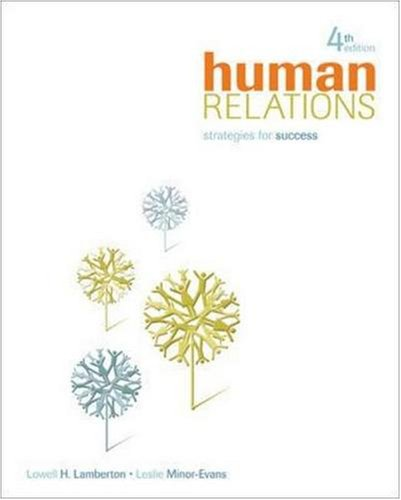 Human Relations Strategies for Success 4th 2010 edition cover