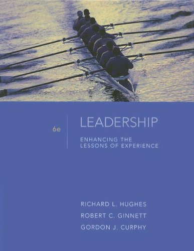 Leadership Enhancing the Lessons of Experience 6th 2009 edition cover
