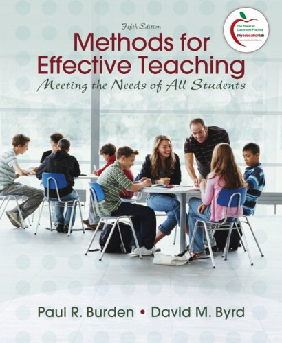 Methods for Effective Teaching Meeting the Needs of All Students 5th 2010 edition cover