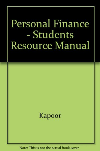 Personal Finance Resource and Case Manual 5th 1999 (Student Manual, Study Guide, etc.) 9780256262049 Front Cover