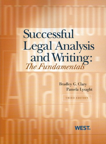 Successful Legal Analysis and Writing The Fundamentals, 3d 3rd 2010 (Revised) edition cover