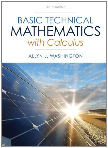 Basic Technical Mathematics with Calculus Plus NEW MyMathLab with Pearson EText -- Access Card Package  10th 2014 edition cover