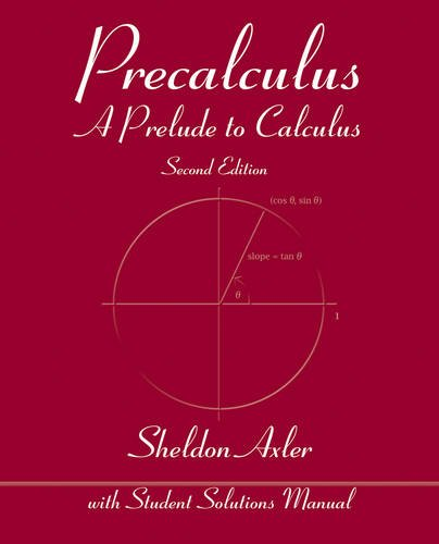 Precalculus A Prelude to Calculus 2nd 2013 edition cover