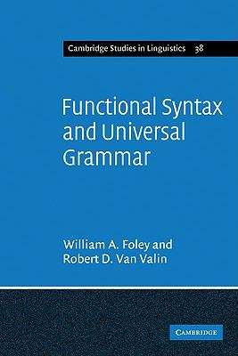 Functional Syntax and Universal Grammar   1984 9780521269049 Front Cover