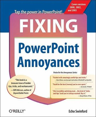 Fixing PowerPoint Annoyances How to Fix the Most Annoying Things about Your Favorite Presentation Program  2006 9780596100049 Front Cover