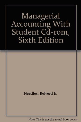 Managerial Accounting with Student CD-ROM  6th 2002 (Student Manual, Study Guide, etc.) 9780618149049 Front Cover