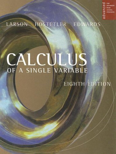 Calculus of a Single Variable  8th 2006 9780618503049 Front Cover