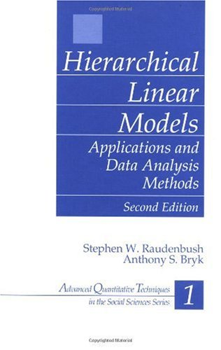 Hierarchical Linear Models Applications and Data Analysis Methods 2nd 2002 (Revised) edition cover