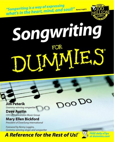 Songwriting for Dummies�   2002 edition cover