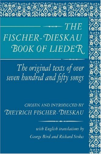 Fischer-Dieskau Book of Lieder  Reprint  edition cover