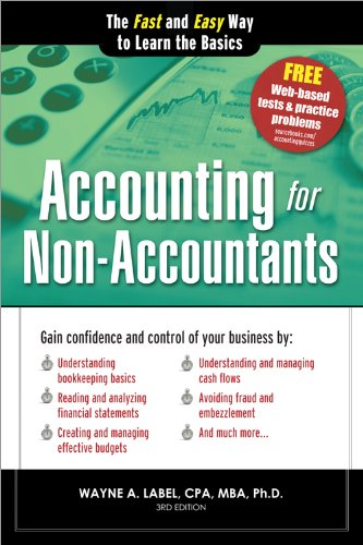 Accounting for Non-Accountants The Fast and Easy Way to Learn the Basics 3rd 2013 (Revised) edition cover