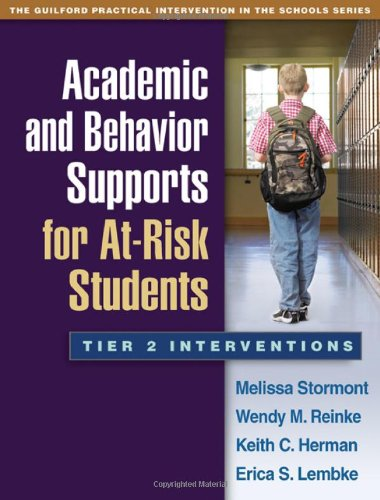 Academic and Behavior Supports for at-Risk Students Tier 2 Interventions  2012 edition cover