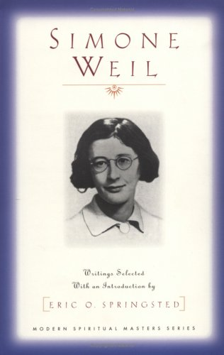 Simone Weil Writings Selected with an Introduction by Erie O. Springsted N/A edition cover