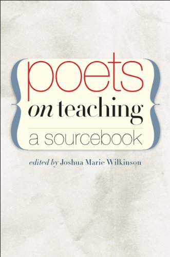 Poets on Teaching A Sourcebook  2010 edition cover