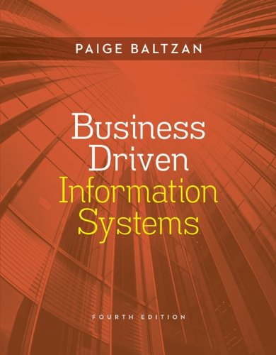 Business Driven Information Systems  4th 2014 edition cover