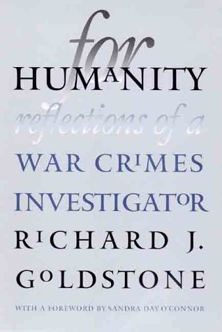 For Humanity Reflections of a War Crimes Investigator  2000 9780300082050 Front Cover