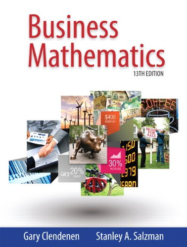 Business Mathematics  13th 2015 edition cover