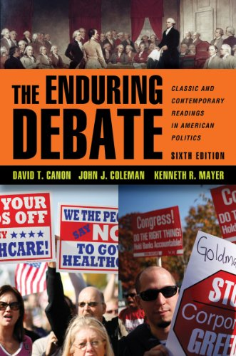 Enduring Debate Classic and Contemporary Readings in American Politics 6th 2011 edition cover