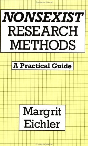 Nonsexist Research Methods Practical Guide  1988 edition cover