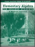 ELEMENTARY ALG.-STUD.SOL.MAN.> N/A 9780618109050 Front Cover
