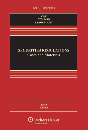 Securities Regulation Cases and Materials, Sixth Edition 6th 2009 (Revised) edition cover