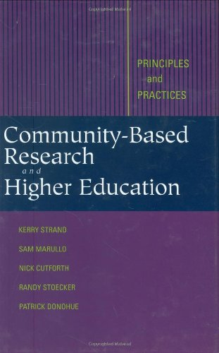 Community-Based Research and Higher Education Principles and Practices  2003 edition cover