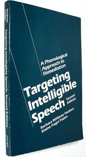 Targeting Intelligible Speech A Phonological Approach to Remediation 2nd edition cover