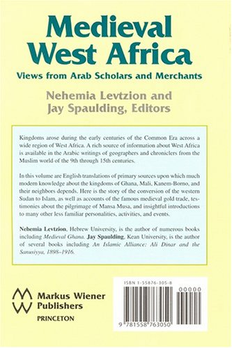 Medieval West Africa In the Eyes of the Arabic Sources  2003 (Revised) edition cover