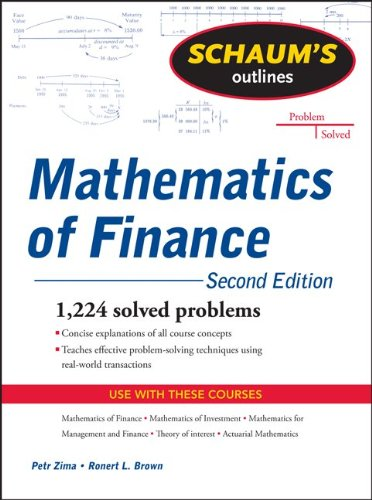 Mathematics of Finance 1,224 Fully Solved Problems 2nd 2011 (Revised) edition cover