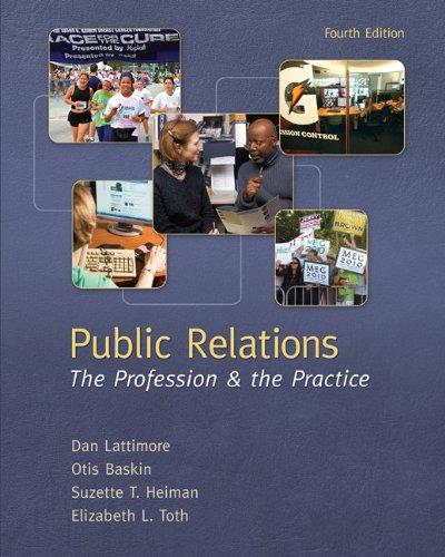 Public Relations The Profession and the Practice 4th 2012 edition cover
