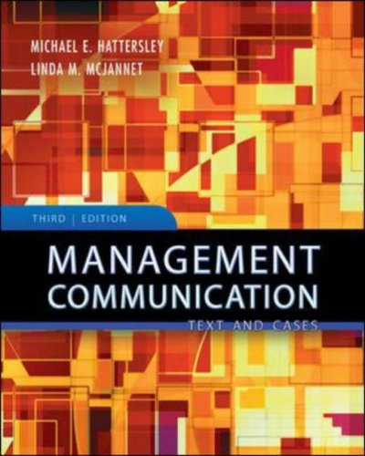 Management Communication Text and Cases 3rd 2008 (Revised) edition cover