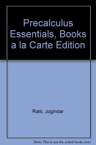 Precalculus Essentials, Books a la Carte Edition   2014 edition cover