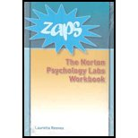 ZAPS Norton Psychology Labs Workbook: To Accompany ZAPS: Norton Psychology Labs at Wwnorton.com/Zaps  2007 edition cover