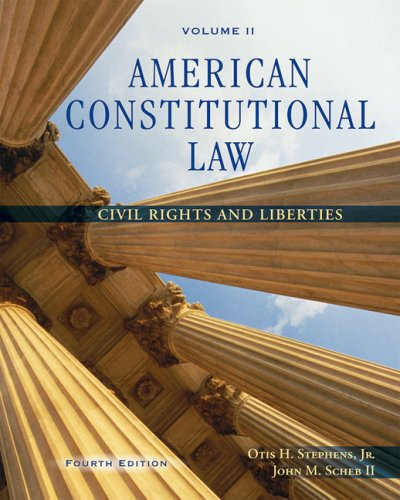 American Constitutional Law Civil Rights and Liberties 4th 2008 (Revised) 9780495097051 Front Cover