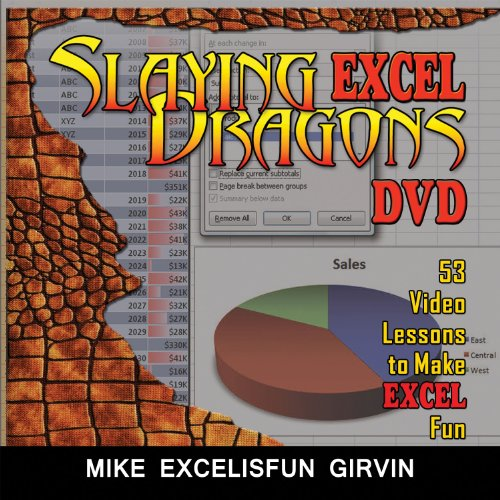 Slaying Excel Dragons: 53 Lessons to Make Excel Fun  2012 edition cover