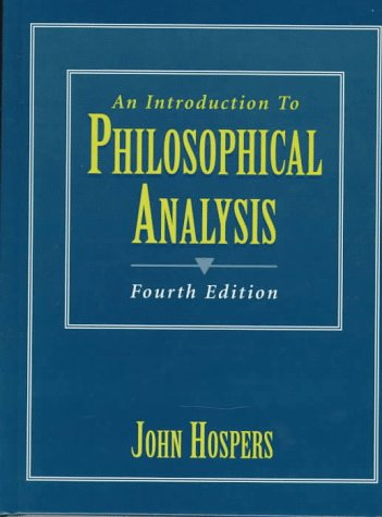 Introduction to Philosophical Analysis  4th 1997 9780132663052 Front Cover