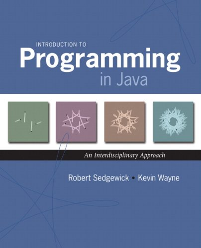 Introduction to Programming in Java An Interdisciplinary Approach  2008 edition cover