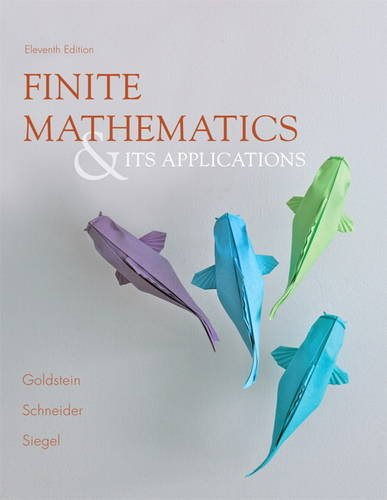 Finite Mathematics and Its Applications  11th 2014 9780321878052 Front Cover