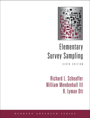 Elementary Survey Sampling  6th 2006 edition cover