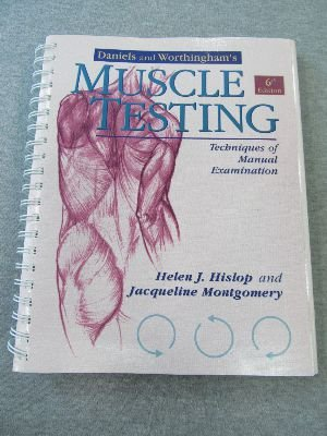 Daniels and Worthingham's Muscle Testing Techniques of Manual Examination 6th 1995 edition cover