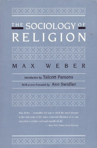 Sociology of Religion 2nd 1993 edition cover