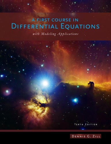 First Course in Differential Equations With Modeling Applications 10th 2013 edition cover