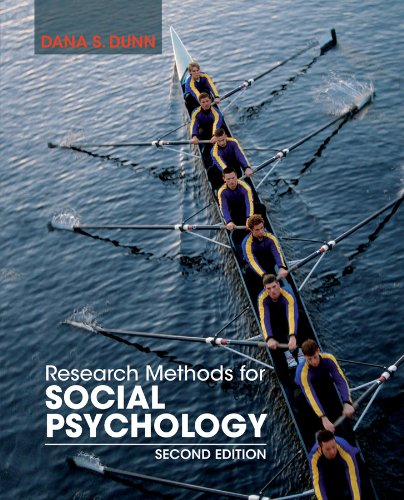 Research Methods for Social Psychology  2nd 2013 edition cover