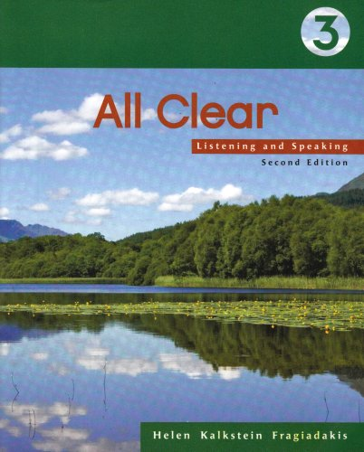 All Clear Listening and Speaking 2nd 2007 9781413017052 Front Cover