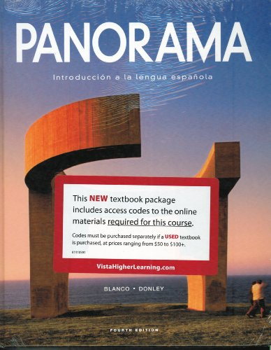 Panorama Introducci�n a la Lengua Espa�ola 4th 2013 9781617677052 Front Cover