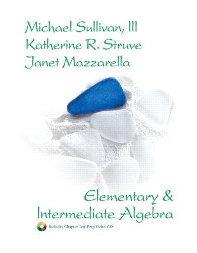 Elementary and Intermediate Algebra   2007 edition cover