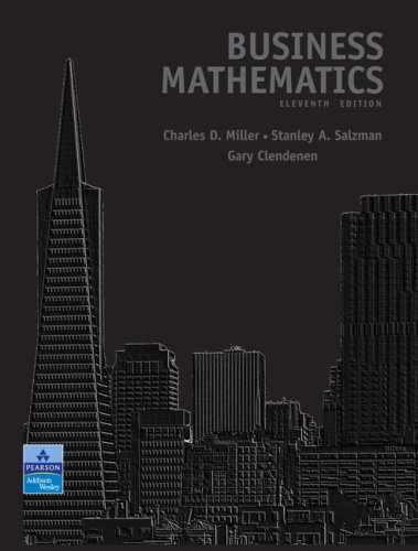 Business Mathematics Value Package (includes MyMathLab/MyStatLab Student Access)  11th 2009 9780135045053 Front Cover