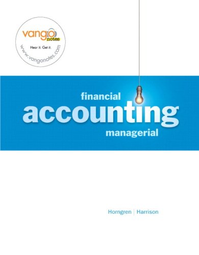 Financial and Mangerial Accounting  2008 9780135128053 Front Cover