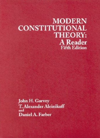 Modern Constitutional Theory A Reader 5th 2003 (Revised) edition cover