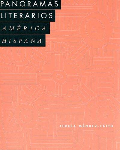 Panoramas Literarios America Hispana  1998 9780669218053 Front Cover